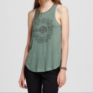 Peaceful Warrior Namaste Graphic Print Tank